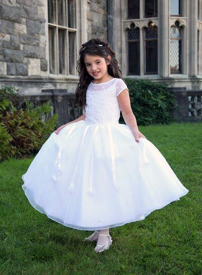 White flower girl dress size 10