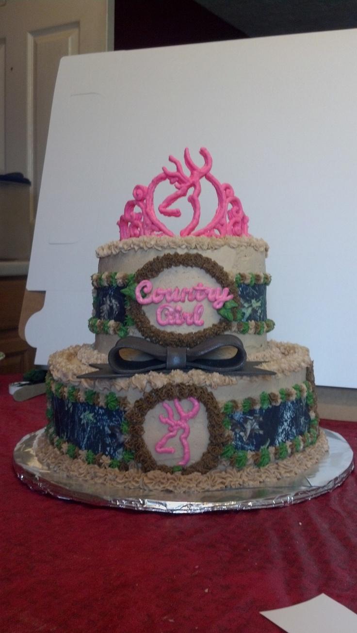 My  Browning Deer cake Country Girl Princess
