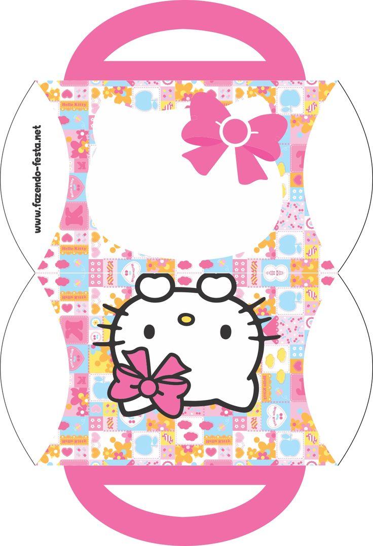 kit fazendo festa -caixinha bolsinha hello kitty para editar e imprimir grátis
