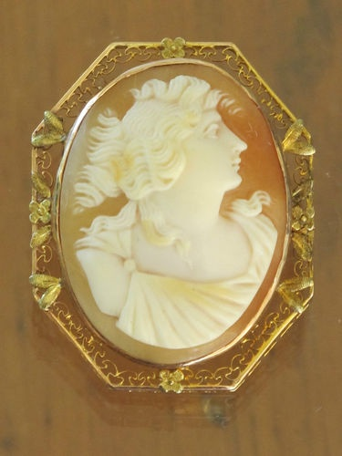 Necklace boutique vintage cameo