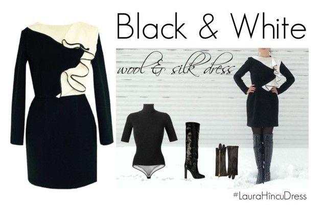 Black & White by Laura Hîncu featuring Theory, Pollini and Giuseppe Zanotti