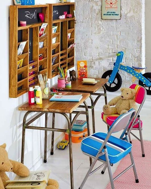 Kids art studio ideas Birch + Bird Vintage Home Interiors » Blog Archive » Creative Play: Art Room Inspiration