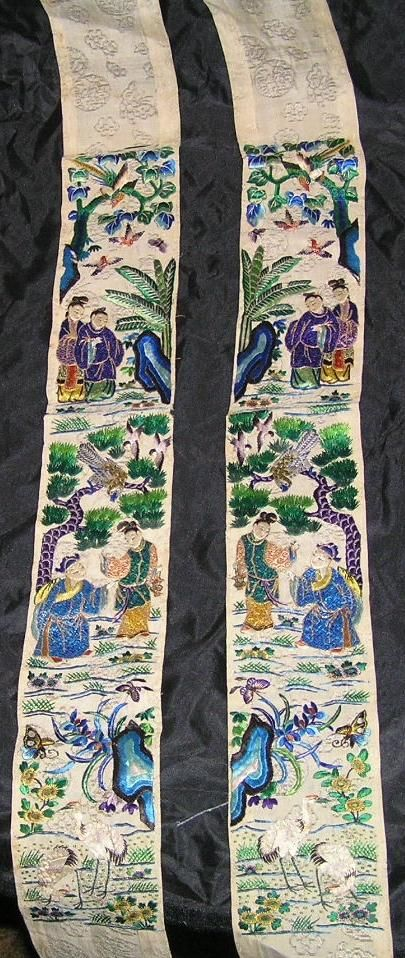spectacular chinese embroidered silk sleevebands