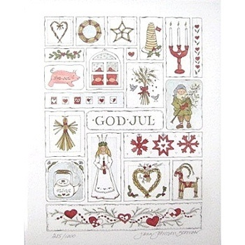 "Limited-Edition Signed God Jul Print Schnoor - I want this!!  For those of you who are not Swedish, ""God Jul"" means ""Merry Christmas"" in Swedish. :-)"