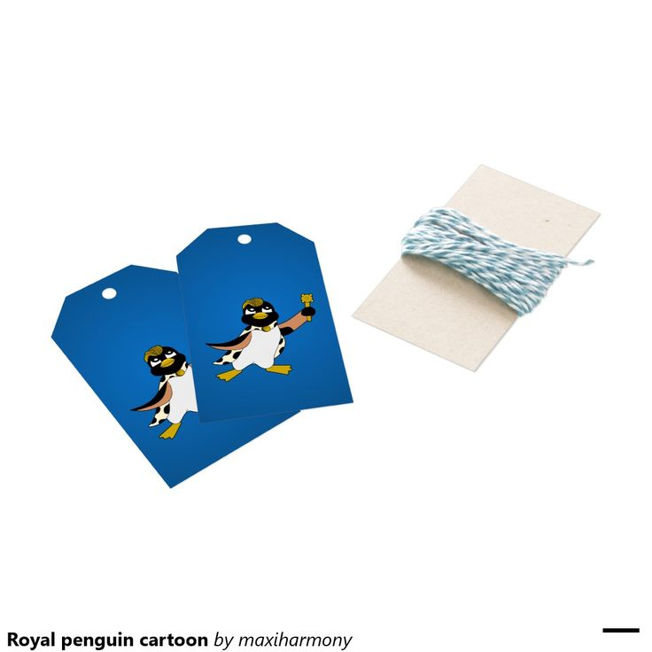 Royal penguin cartoon pack of gift tags