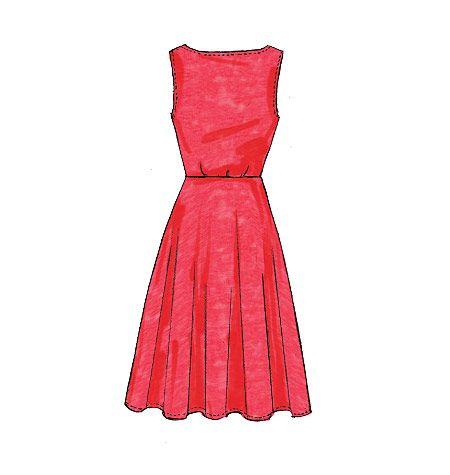 M7313, Ausgestellte Kleider für Damen   – M7313