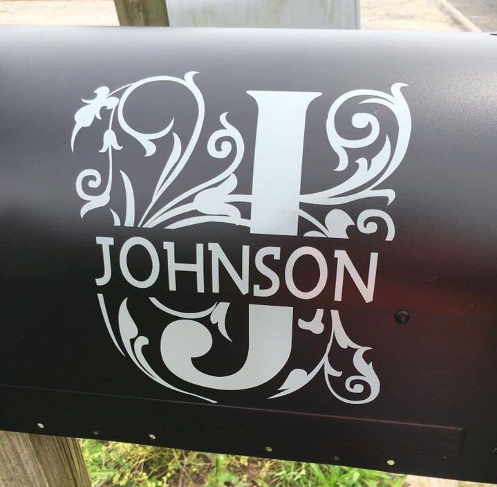Unique Mailbox Monogram Ideas On Pinterest Vinyl Monogram - How to make vinyl monogram decals with cricut