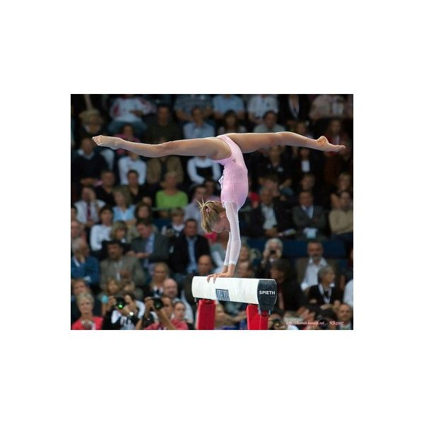 Nastia Liukin during olympics 2008 gymnastics qualifs ❤ liked on Polyvore featuring gymnastics, olympics, dance, pictures and sports
