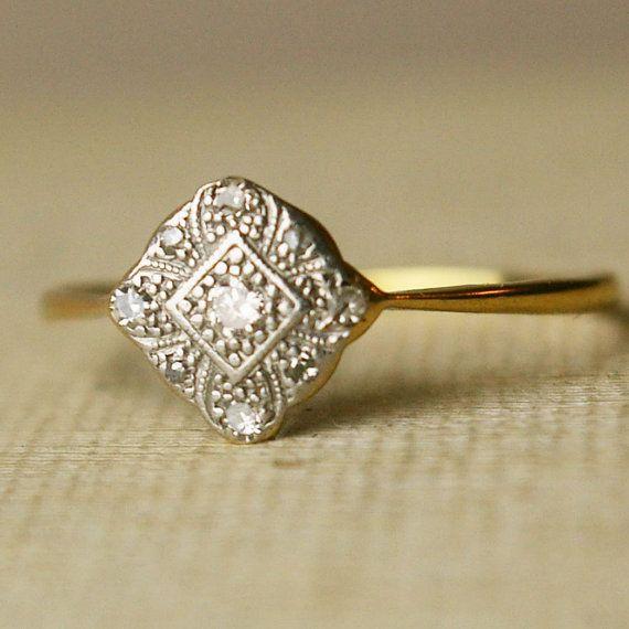 Pretty ring: Vintage Engagement Rings, Vintage Wedding, Diamonds Rings, Vintage Rings, Vintage Beautiful, Wedding Rings, Dreams Rings, Antiques Engagement Rings, Antiques Rings