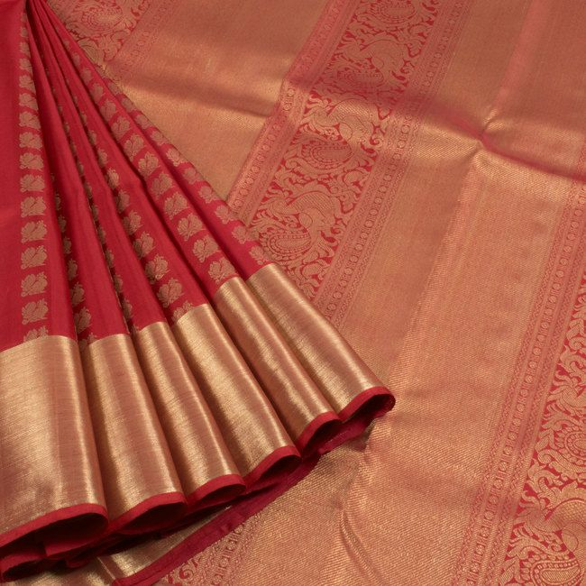 beautiful red color saree www.shopzters.com