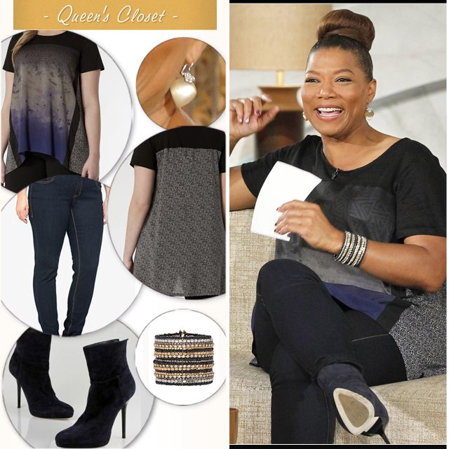 Queen Latifah accessorizes with our Beaded Bracelet #LaneBryant