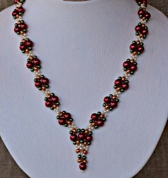 1349 best Beaded Necklace Patterns images on Pinterest Beaded