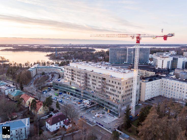 Helsinki Children's Hospital under construction 12/2016