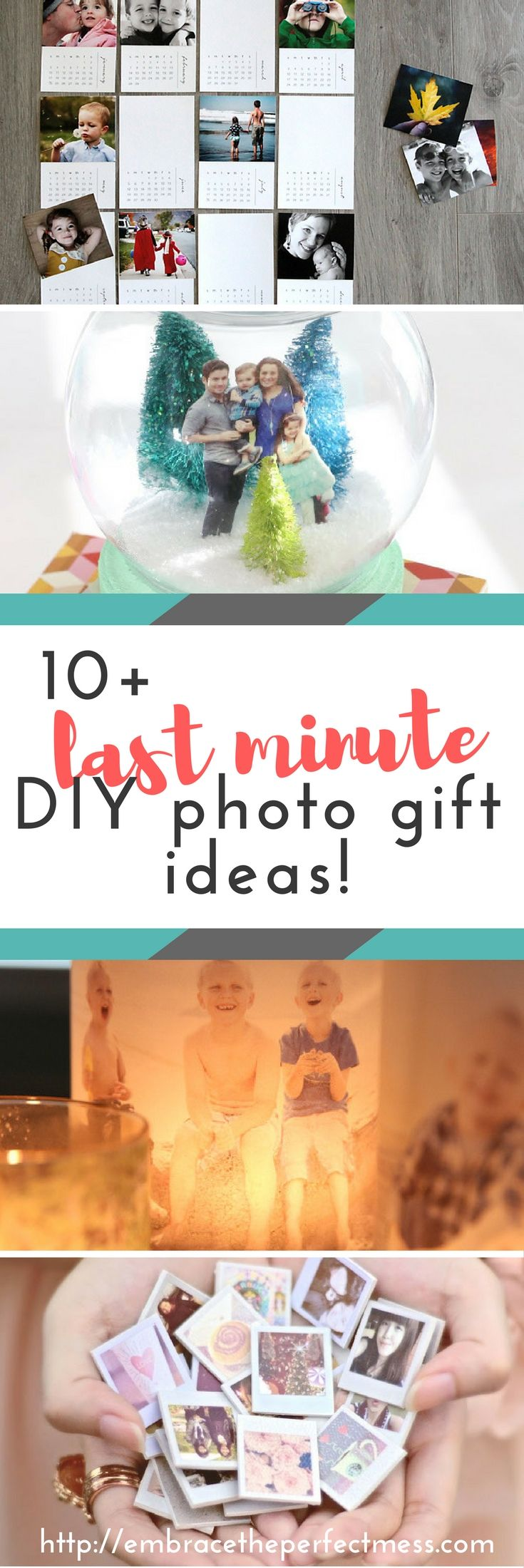 Looking for great last minute DIY photo gifts? This is a perfect list of ideas! #photogifts #lastminutegifts #diyphotogifts