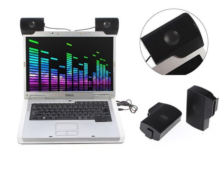 Mini Pair USB\ 3.5mm Multimedia Speakers Clip-on Stereo for Laptop Desktop PC  #UnbrandedGeneric