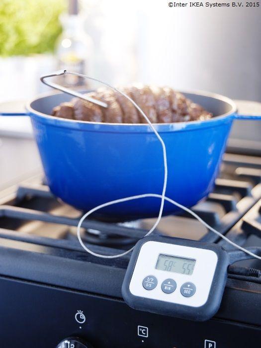 Un termometru în bucătărie te poate ajuta să găteşti friptura exact cum îţi place. www.IKEA.ro/termometru_FANTAST