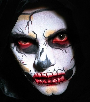fairy face paint halloween makeup - Easy Scary Halloween Face Painting Ideas