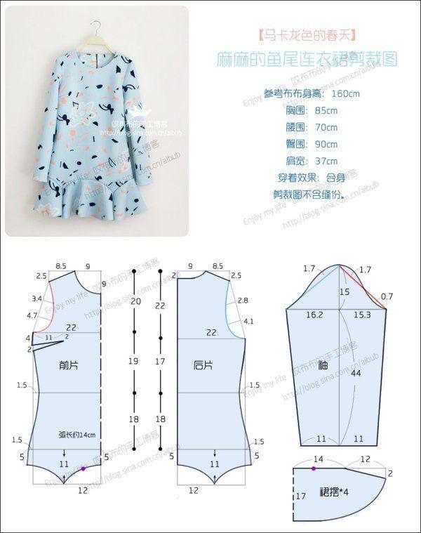 Детская одежда своими руками. Платье с выкройкой