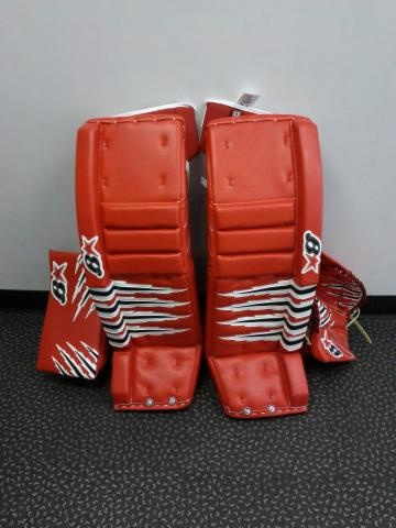 All Red Brians set!  Order a custom set of pads at goalie.totalhockey.com