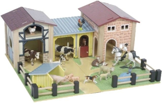 Le Toy Van - Wooden Farmyard Play Set & Schleich Bundle My 2 boys would spend hours playing with this, as they love animals. #pintowin #entropywishlist