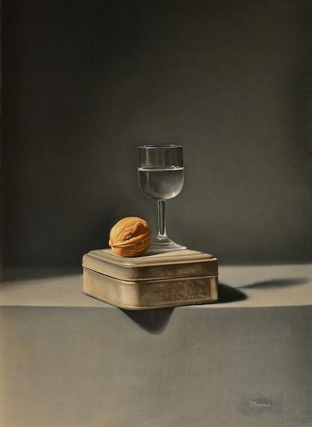 Peinture de Paul Magendie en trompe l'oeil appelée la noix