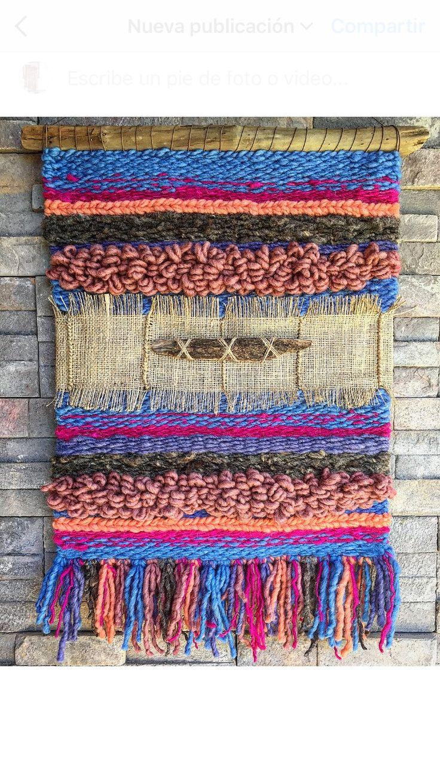 #weaving #woven #wovenwallhanging #telar Un favorito personal de mi tienda Etsy https://www.etsy.com/es/listing/484392641/woven-wall-hanging