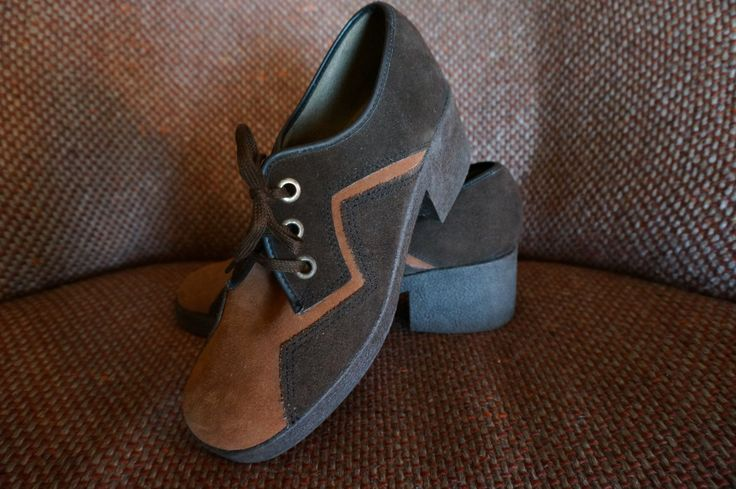 vintage suede brown shoes chunky heels lace by dieyoungstaypretty