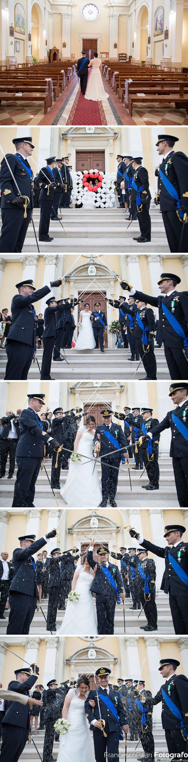 cerimoniale matrimonio durante l'uscita degli sposi dalla chiesa di ca rainati di san zenone degli ezzelini