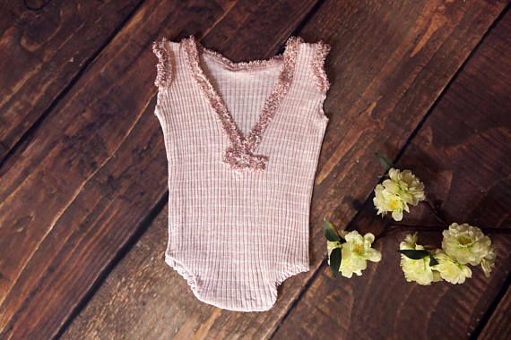 newborn baby girl bodysuit newborn photography props-strech