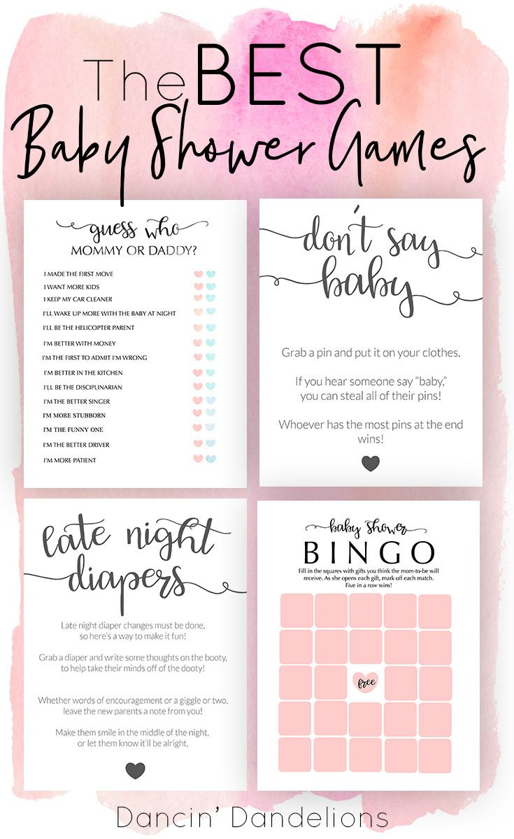 Cheap Baby Shower Games Ideas