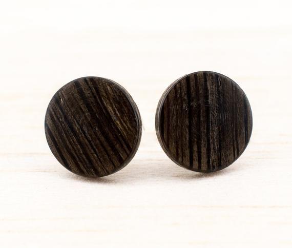 Kleine Holz Ohrstecker O11mm Mini Ohrringe Dunne Runde Kleine Holzerne Ohrstecker Fake Plugs Wood Earrings Wooden Ear Studs Naturschmuck Wooden Jewelry Jewelry Ear Studs