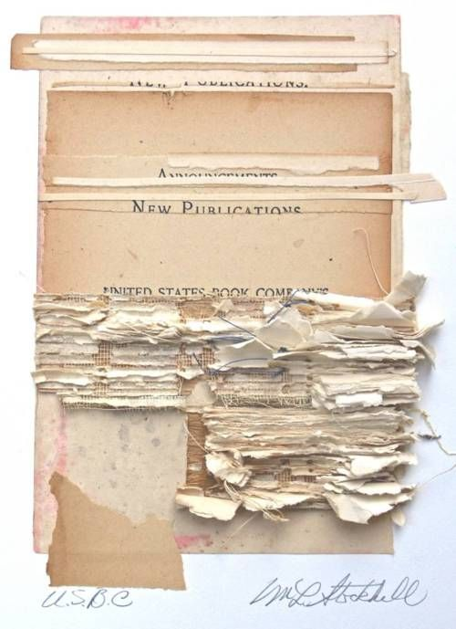 Marie Stockhill, I Once was White, 2007 collage with antique papers Catalogue cover of the exhibition White on White at the International Museum of Collage Assemblage and Construction