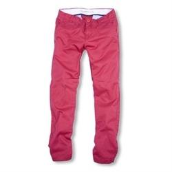 Øko bukser i lækker rød