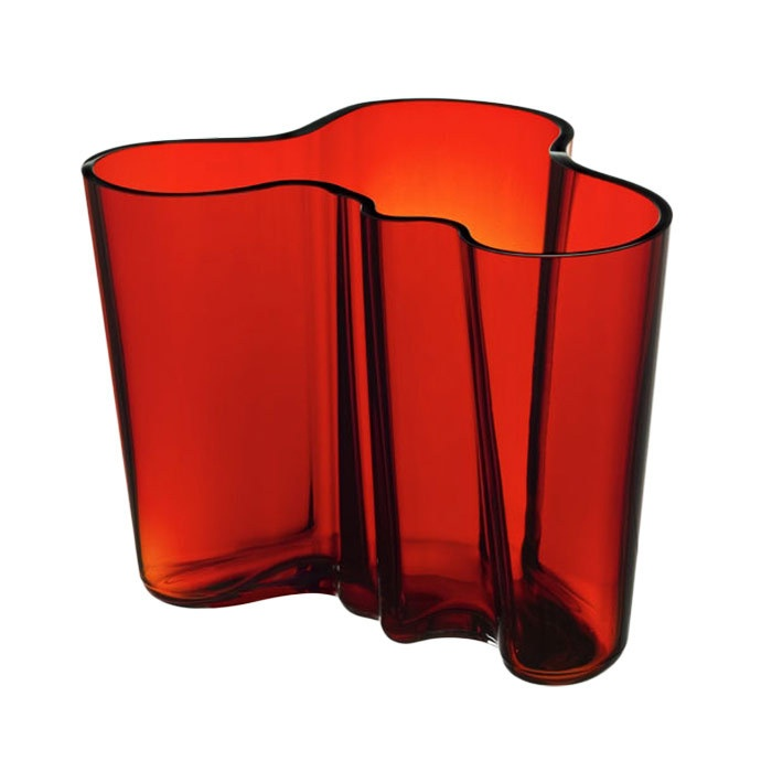 iittala Alvar Aalto Vase in Flaming Red | Joss and Main // I  bought this vase in Helsinki about 10 years ago. It is one of the most stunning pieces of modern glass.