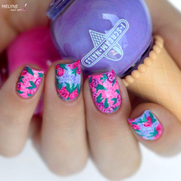 nail-art-romantique-vintage-roses-et-dentelle