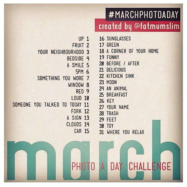 march photo challenge
