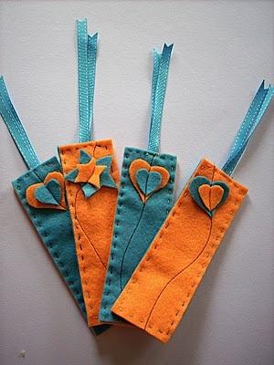 Felt bookmarks #felt #bookmarks #crafts #diy
