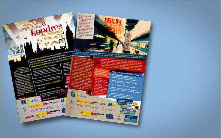 Carteles de Undondin para dos proyectos que organiza el Hub Emprende Gran Canaria a través de la SPEGC.