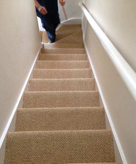 sisal carpet on stairs - Google Search