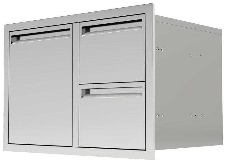 "UOL-350 42"" Single Door/ 2 Drawers"