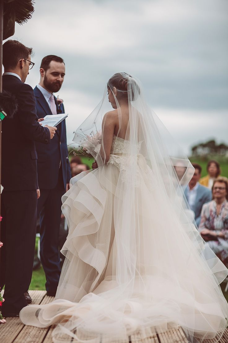 keralwedding card wordings in english%0A Blush Pink  u     Gold Colour Scheme for an English  u     Indian Fusion Wedding with  Lazaro Wedding Dress