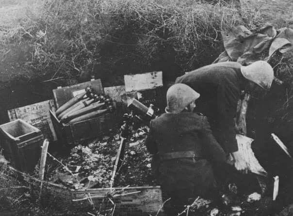 Romanian mortar unit , eastern front WW2