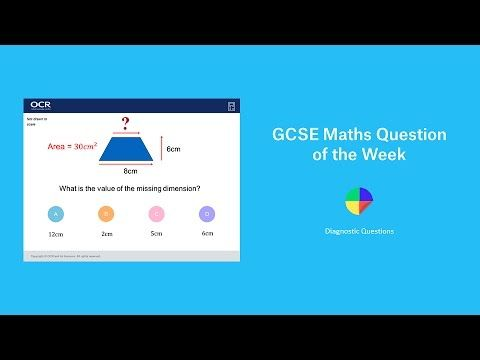 Area of a Trapezium: GCSE Maths Question of the Week - YouTube