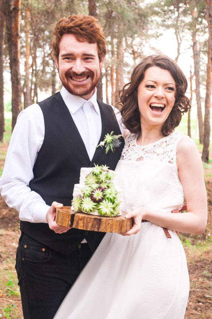 Wedding day in forest
