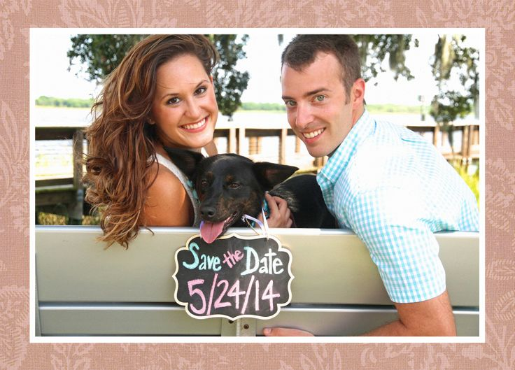 DIY Ideas, Charleston Weddings, Save The Date With Your Dog, Dog Pictures,  Weddings