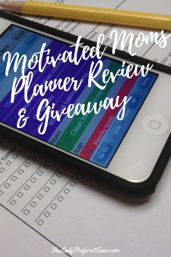 Motivated Moms Planner Review and Giveaway