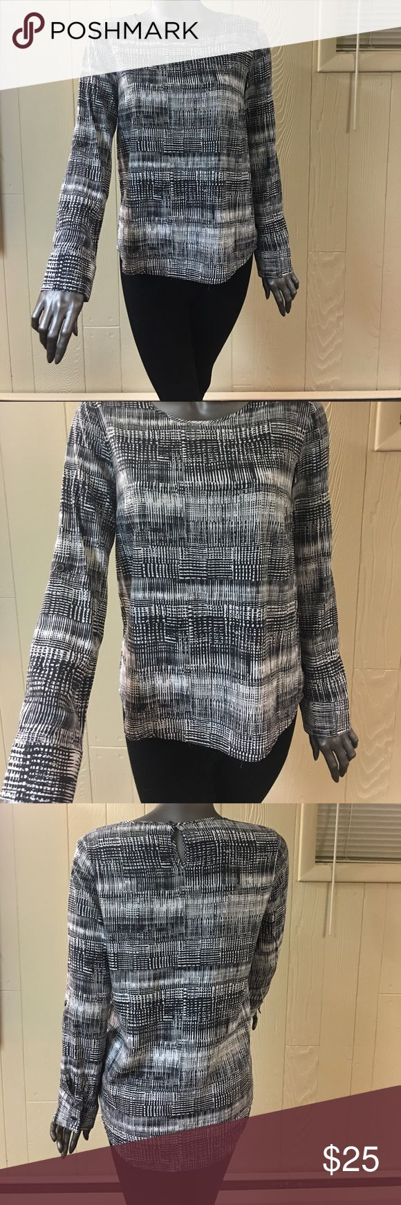 Bass Long Sleeve Bass Long Sleeve Black and White shirt! Light material — perfect for any weather! Great for work or a night out! ***ONLY WORN ONCE*** Bass Tops Tees - Long Sleeve