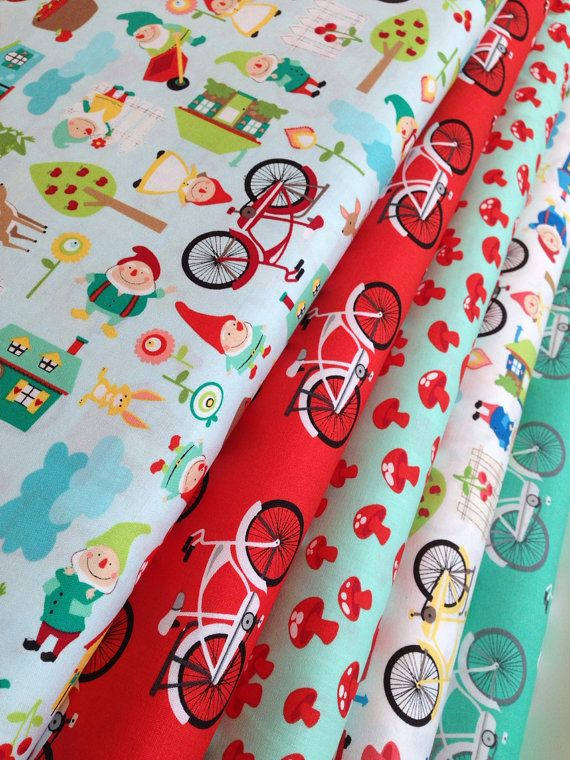 Gnome+Living+Quilt+or+Craft+Fabric+bundle+by+by+fabricshoppe,+$15.00