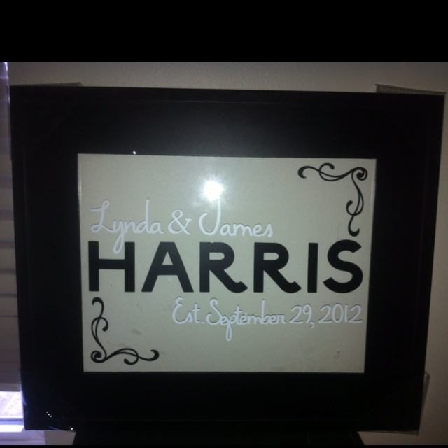 Wedding Gift For Brother And His Wife : wedding gift I made for my brother and his future wife! Cricut cut ...