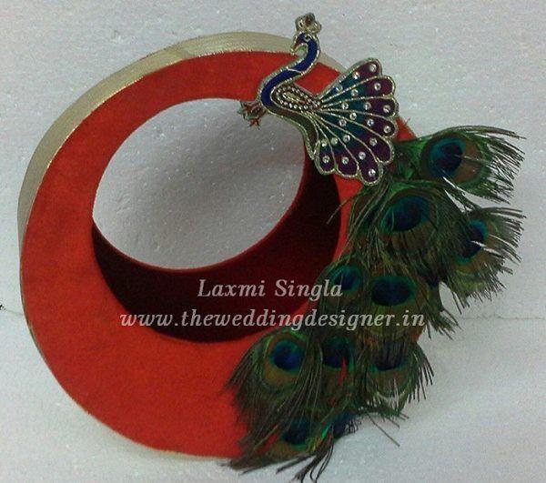 peacock wedding basket